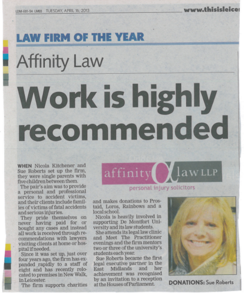 Affinity wins Law Firm of the Year Award
